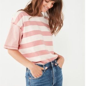 BDG striped pink tee